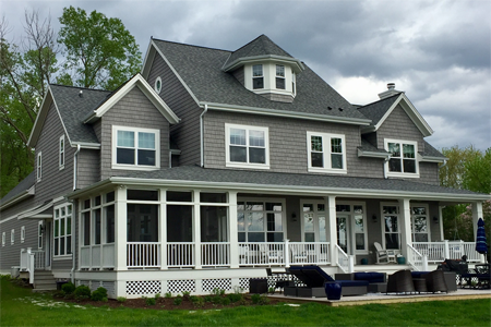 2 story lake home with wrap around porch - Anthony Thomas Builders